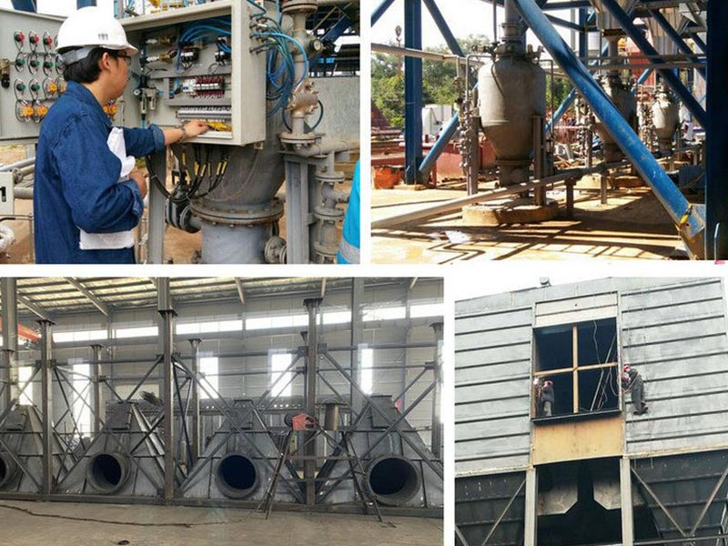 Indonesia power plant boiler dust collector and matched pneumatic conveying system project